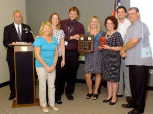 Executive Director, Vicki LaBelle, receives the Employee of the Year Award