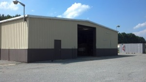 MC3 warehouse used to store disaster relief supplies.