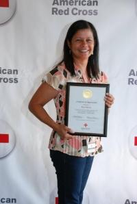 Rose Rivera accepting the 2012 SAF Volunteer Leadership Award.