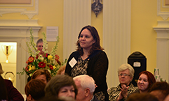Wendy Flynn, Regional Director of Volunteers, at the Red Cross Overseas Association Memorial Ceremony and Recognition of Red Cross Staff Deployed from 1918-2013 event in D.C. on November 8.