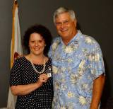 Chuck Thurlow with Cape Fear Chapter CEO, Vicki LaBelle.