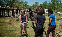 Amy Ward shares her story with local media.