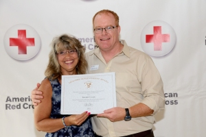 Sherry Clain, Disaster Services Volunteer and James Jarvis, Disaster Program Specialist