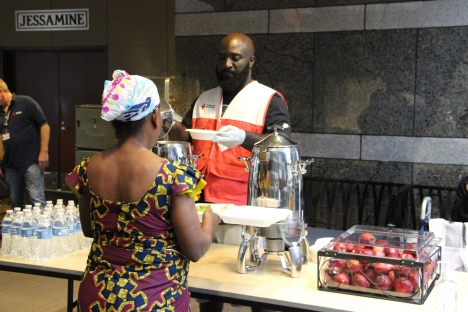It takes a team to feed people affected by disasters