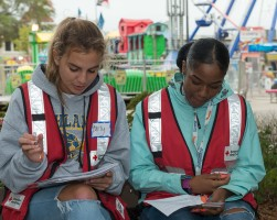 Carly Schaub & Natalia Thompson, American Red Cross Volunteers