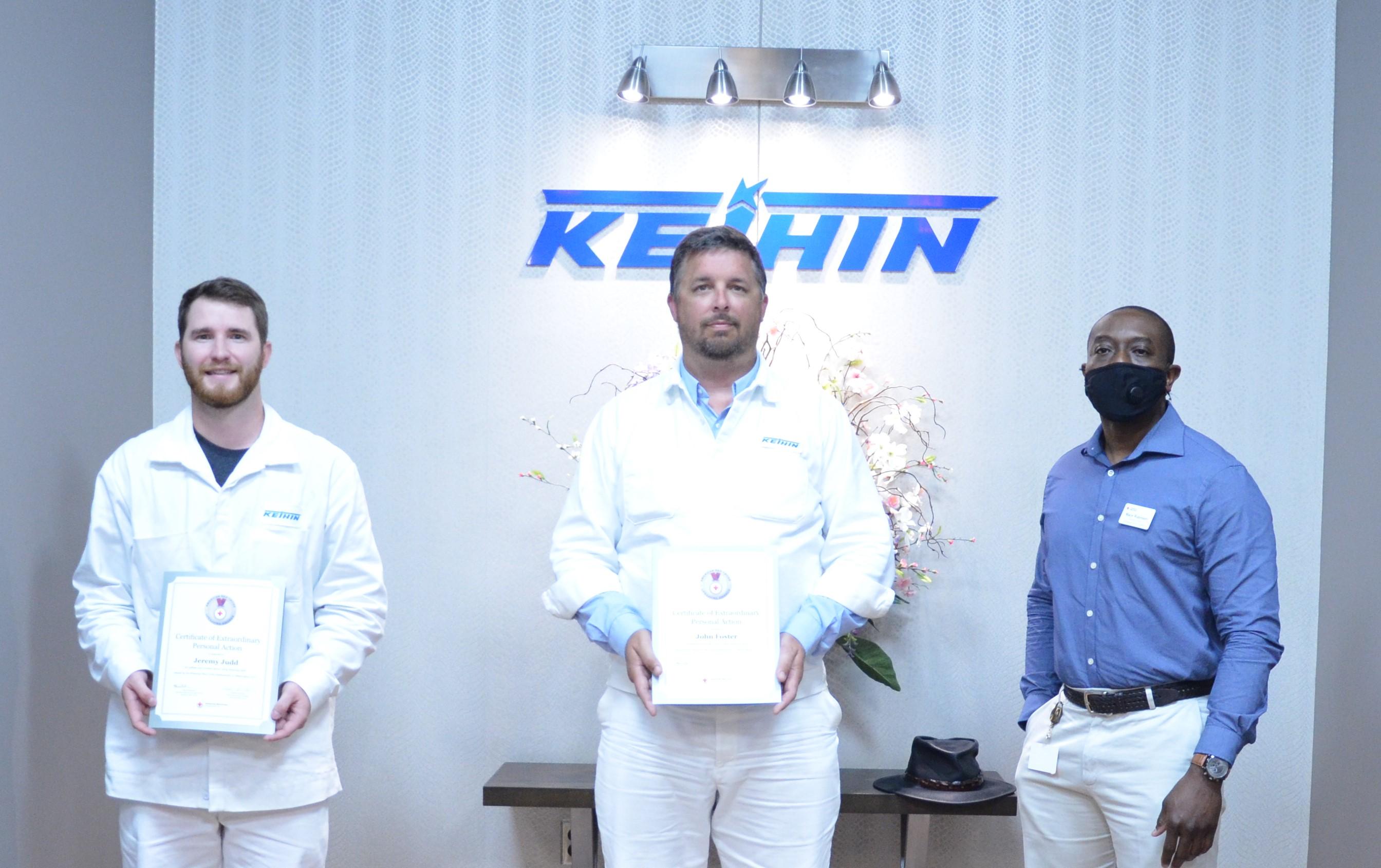 Keihin Lifesaving Awards - Jeremy Judd - John Foster - Mace Robinson 6-15-2020